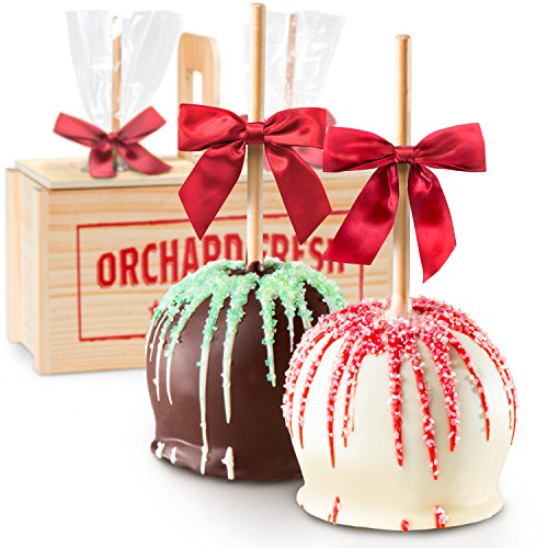 oliday Milk & White Chocolate Covered Caramel Apples Gift Crate ()