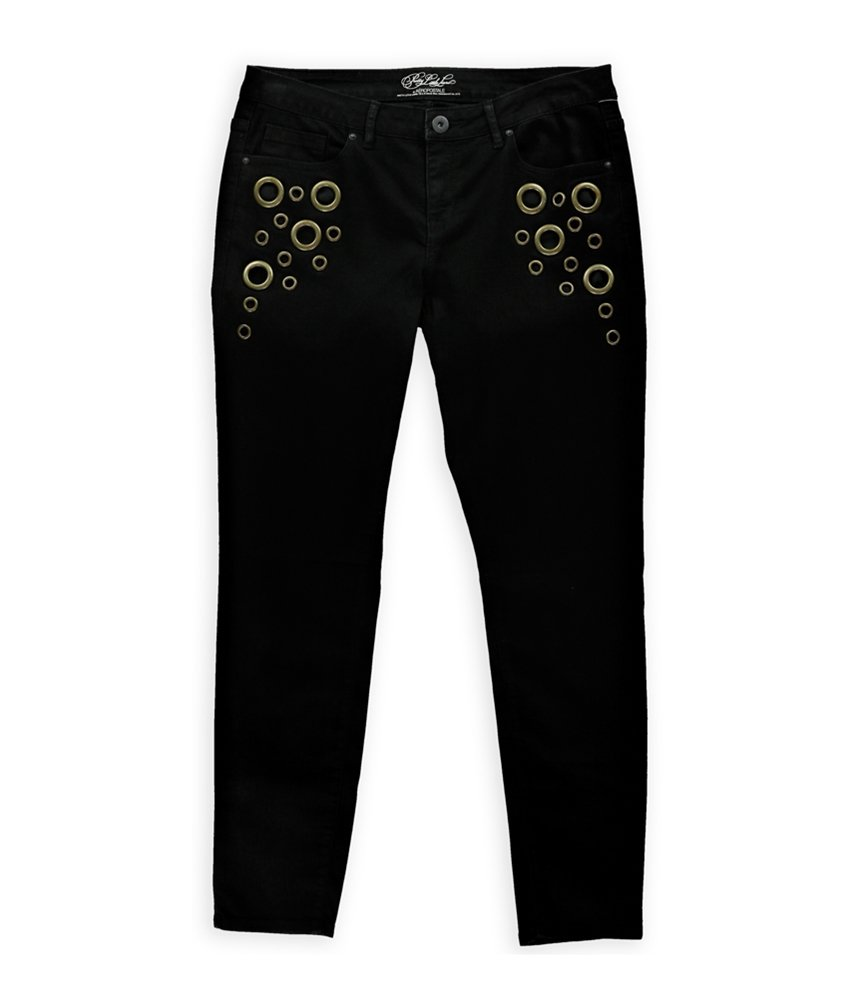 Aeropostale Womens Emily Brass Ring Jeggings Black 4x32 - Juniors