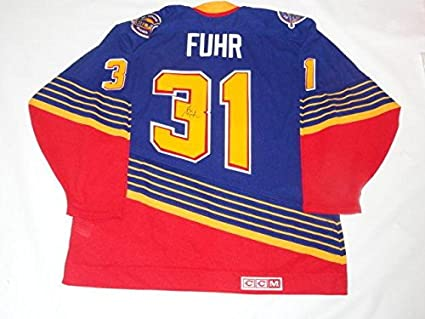 9d8e4e46 Image Unavailable. Image not available for. Color: Autographed Grant Fuhr  Jersey - #31 Ccm Vintage Proof Hof Rare ...