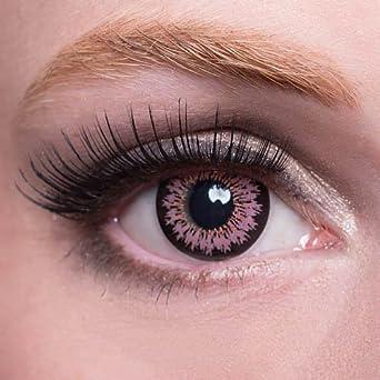 Sonderverkäufe suche nach authentisch neuesten Stil Matlens – EOS Farbige Kontaktlinsen ohne Stärke pink rosa Big eyes S-325 2  Linsen 1 Kontaktlinsenbehälter 1 Pflegemittel 50ml FBA
