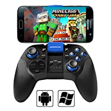 Android Bluetooth Gamepad, BEBONCOOL Bluetooth Game Controller with Clip for Android Phone/ Tablet/ TV Box/ Gear VR/ Emulator