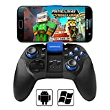 BEBONCOOL Bluetooth Game Controller with Vibration Shot Function for Android Phone/Tablet/TV Box/Gear VR/Emulator