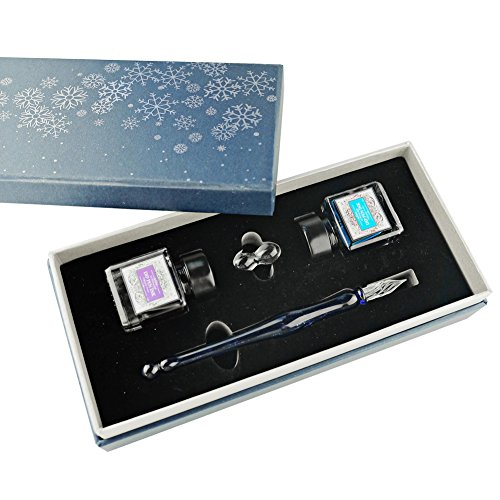 Calligraphy-Pen-Set-GC-QUill-Glass-Dip-Pen-Writing-Case-with-2-Bottle-Inks-Glass-holder-Gift-Pen-Set