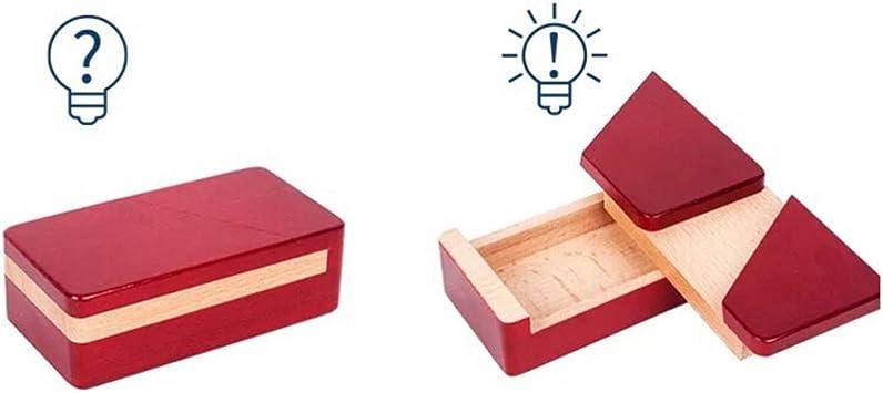 Toyvian caja imposible caja de rompecabezas mágico de madera caja de apertura secreta maestra para joyería de regalo (rojo): Amazon.es: Bricolaje y herramientas