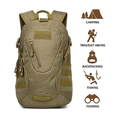 Hisea Lightweight Durable Hiking Backpack Travel Backpack 15L/25L