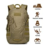 Hisea Outdoor Hiking Backpack 15L/25L - Durable Nylon...