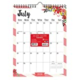 TF Publishing 19-6099A July 2018 - June 2019 Floral Monthly Wall Calendar, 9 x 12'', Multi Colored