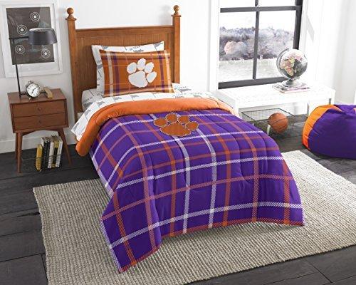 Northwest NCAA Clemson Tigers Soft & Cozy 5 Piece Twin Orange Bed in a (Clemson Tigers Soft Blanket)
