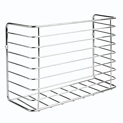 mDesign Farmhouse Metal Wire Wall & Cabinet Door Mount Kitchen Storage Organizer Basket Rack - Mount to Walls and Cabinet Doors in Kitchen, Pantry, and Under Sink