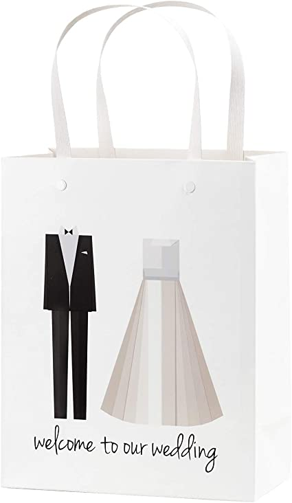 Goodie Bags Hotel Wedding Welcome Bags Wedding Guest Snack Bags set of 10 Personalized Favor Bags Elegant Wedding Welcome Bags