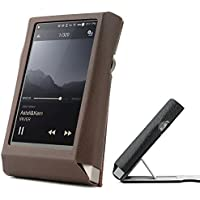 Astell & Kern AK320 Hand Crafted MITER Stand Leather Case Cover [Patented Stand Case] astell&kern leather case (Brown)