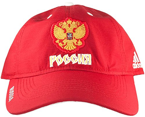 Team Russia 2016 World Cup of Hockey Adidas Slouch Adjustable Hat