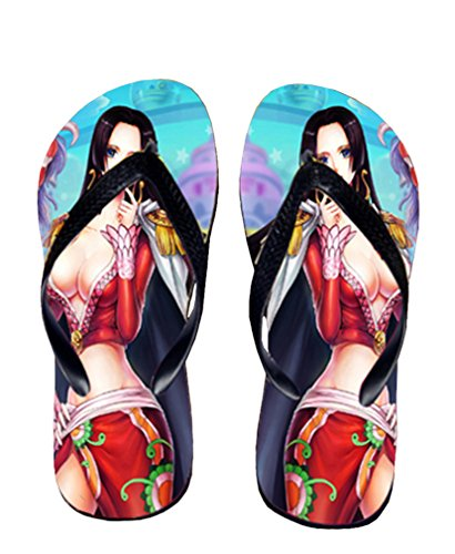 Bromeo One Piece Anime Unisex Flip Flops Chanclas 365