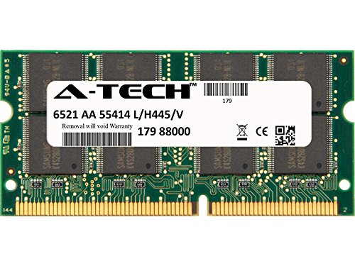 A-Tech 128MB STICK For Toshiba Toshiba Satellite 1800-S245 1800-S253 1800-S254 1800-S274 1800-S314 1800-S400 1800-S700 1800-VF1 1805 1805-S154 1805-S177 180. SO-DIMM SD NON-ECC PC100 100MHz RAM Memory