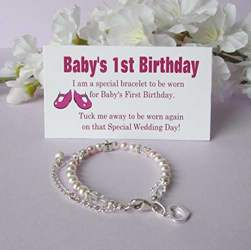 Baby's 1st Birthday Gift Bracelet Growing With Baby - Dainty Gowns
