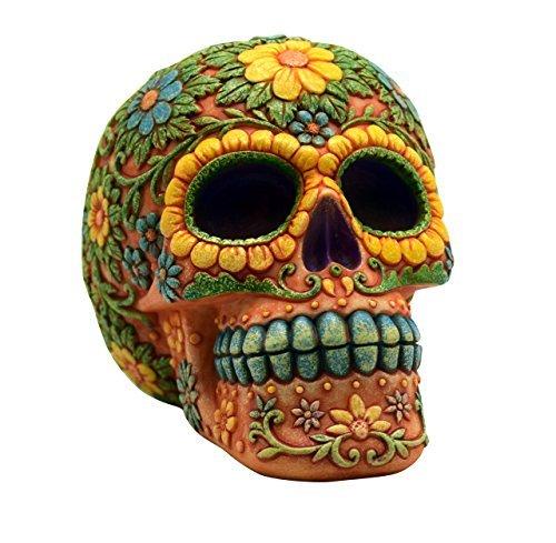 orange-day-of-the-dead-sugar-skull-coin-bank-mexican-dia-de-los-muertos-new