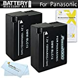 2 Pack Battery Kit For Panasonic Lumix DMC-FZ1000, DMC-FZ200, DMC-G5, DMC-G6, DMC-GH2, DMC-FZ300K, DMC-GX8, DMC-G7 Digital Camera Includes 2 Replacement DMW-BLC12 DMW-BLC12E, DMW-BLC12PP Batteries (FULLY DECODED!) + More