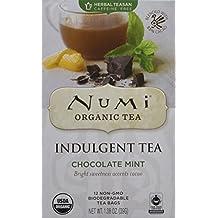 Numi indulgent Tea Chocolate Mint, Organic, 12 Count (Pack of 6) by Numi