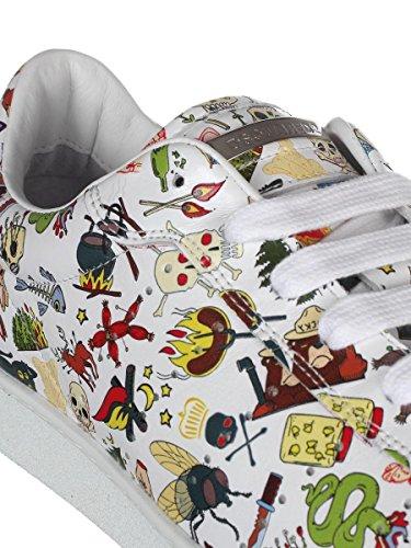 DSQUARED2 Herren SNM0403409000011062 Weiss Leder Sneakers