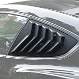 Automotive : Quarter Side Window Louvers Cover in Matte Black for 2015 2016 2017 Ford Mustang