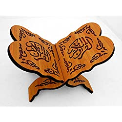 Islamic Muslim Quran book holder – Wood stand for Quran / Home Decorative # 1677