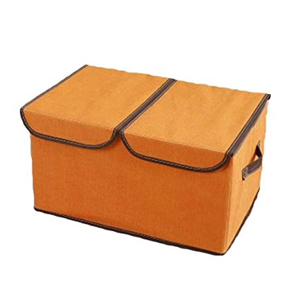 Merveilleux WAQIA HOUSE Storage Bins, Foldable Storage Cubes Box With Lids And Handles, Collapsible  Storage