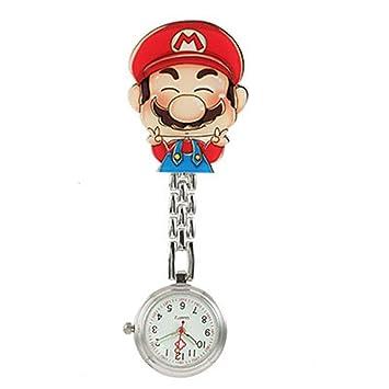 nurse angel Enfermera de Dibujos Animados Mesa Colgando Reloj Enfermera Pecho Reloj Clip Cuarzo Reloj, 15: Amazon.es: Hogar