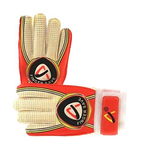 Finger Save Soccer Goalie Goalkeeper Gloves (Orange, 5)