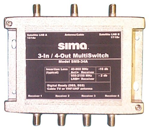 Sima SMS-34 3-in/4-out Passive MultiSwitch