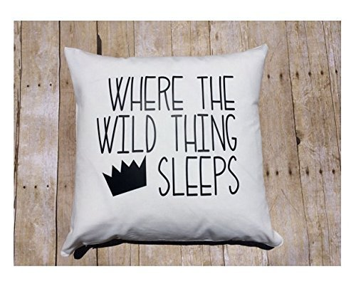 Custom Kid Pillow Cover , 16x16 in Kids Custom, boy bedding , Where the Wild things are Bedroom , boy room décor, Halloween Gift for Children (Everyone Gift Basket)