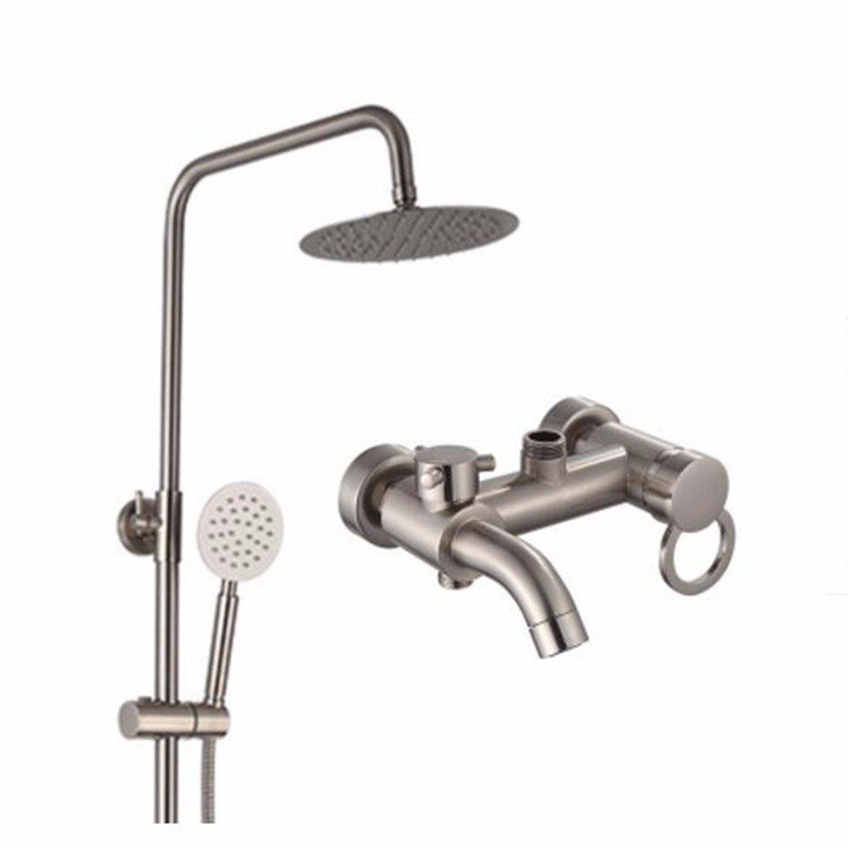 E Shower Copper Shower Hand Shower Simple Lift Shower Set Continental Pull Faucet Brass Shower,G