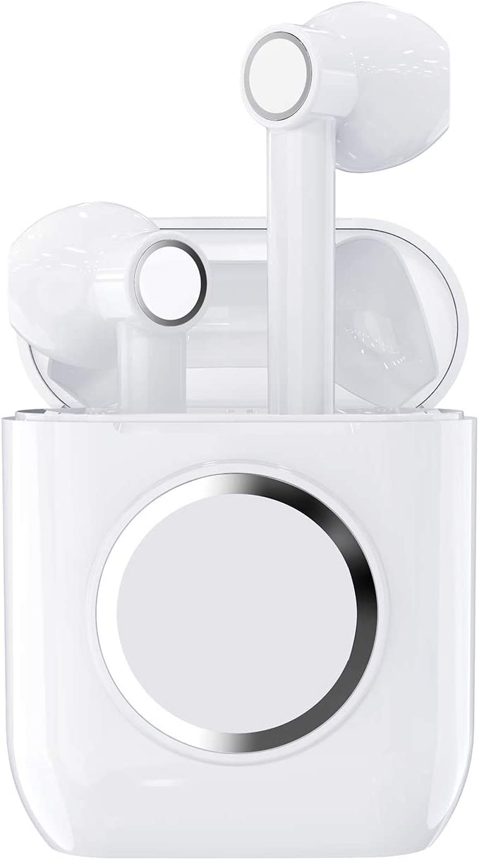 Wireless Earbuds, ELECDOLPH Bluetooth 5.0 True Wireless Earbuds, 30H Cycle Playtime Wireless Headphones HiFi Stereo Earphones with Charging Case Compatible for Airpods, iPhone, Android