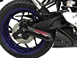 Coffman's Shorty Exhaust for Yamaha YZF-R3 (2015-17) Sportbike with Black Tip