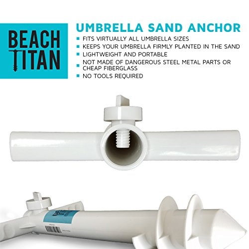 Beach Umbrella Sand Anchor – Universal Fit – Safe, Strong Wind Protection by Beach Titan (Image #5)