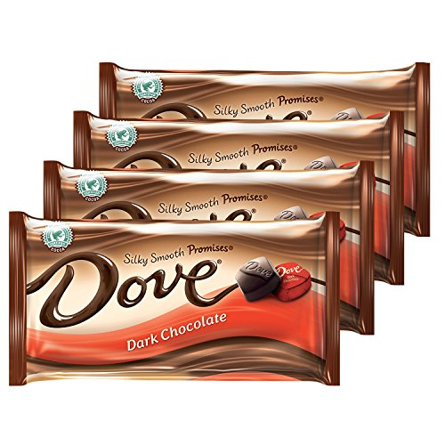 DOVE PROMISES Dark Chocolate Candy 8.87-Ounce Bag (Pack of 4) (Sized Bite Desserts)