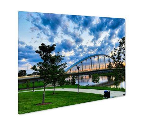 Ashley Giclee Metal Panel Print, A Beautiful Sunset In Columbus Ohio With The Scioto Greenway And The Main, 8x10, - Times Sunset Ohio Columbus
