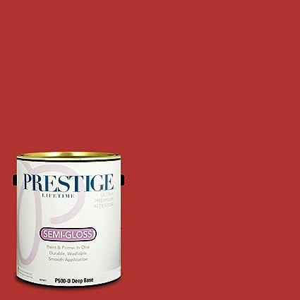 Prestige Paints P500 D Sw6864 Interior Paint And Primer In One 1 Gallon Semi Gloss Comparable Match Of Sherwin Williams Cherry Tomato 1 Gallon