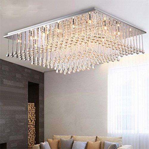 TOYM UK Moderne Minimalistische LED Kristall Lampe Wohnzimmer Decke Stilvolle Atmosphre Schlafzimmerlampe Restaurant Rechteckigen Lampen Deckenleuchte