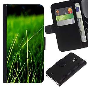 Paccase / Billetera de Cuero Caso del tirón Titular de la tarjeta Carcasa Funda para - Nature Beautiful Forrest Green 84 - Samsung Galaxy S4 Mini i9190 MINI VERSION!