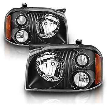 Black Headlights Headlamps Pair Set LH /& RH For 2001-2004 Nissan Frontier Pickup