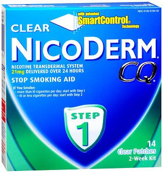 NicoDerm CQ Clear Patches, 21 mg, Step 1 - 14 ct, Pack of 2 by NicoDerm CQ (Image #1)