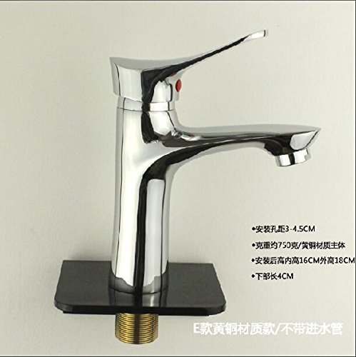 E Brass Tucking 60cm Tube JWLT Copper hot and cold water basin faucet single handle single hole,F brass tucking