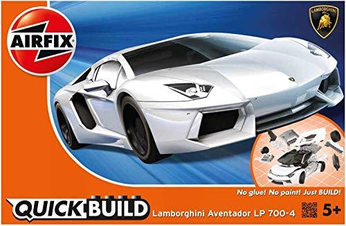 Airfix J6019 Quick Build Lamborghini Aventador Model, White