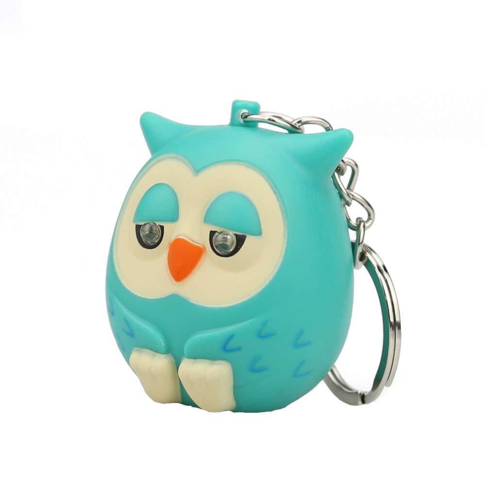 Emerayo LED Light Up Toys, Cute Cartoon Owl Keychain (Green, One) by Emerayo (Image #1)