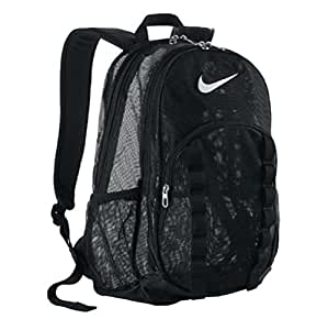 Amazon Com Nike Brasilia Mesh Backpack Black Sports