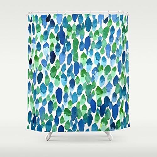 Amazon.com: Blue Rain Shower Curtain, Abstract Art