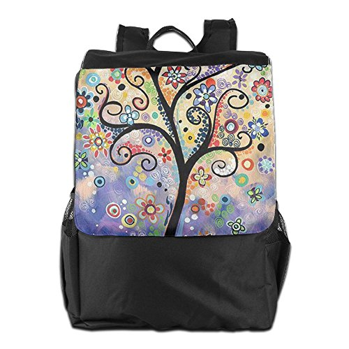 Storage HSVCUY Camping Travel Men Strap Personalized For Adjustable Outdoors Dayback Women Oil Painting Shoulder Backpack And Tree School 74q7rUIw