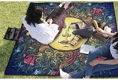 Suo Long Coperta Decorativa per Picnic da Sole di Fronte all'uomo con stuoia da Picnic per Esterni a Mano per Prato da Campeggio Parco Spiaggia