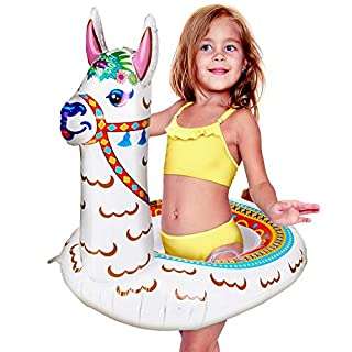 USA Toyz Llama Baby Pool Float - 27 Inch Tall Inflatable Pool Floats for Kids, Baby Safety Swimming Float