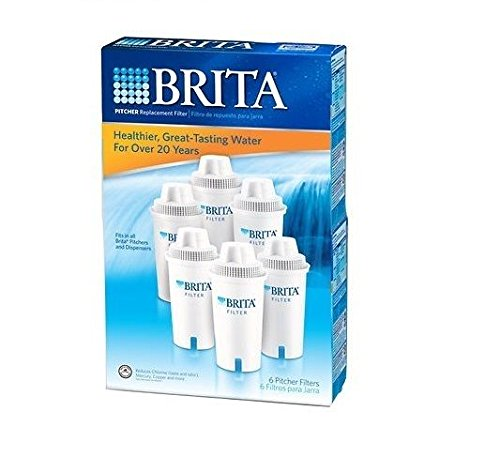 (Doaaler(TM) Brita Pour Through Pitcher Replacement Filter 6 Pk for Tasting Fresh Clean Water)